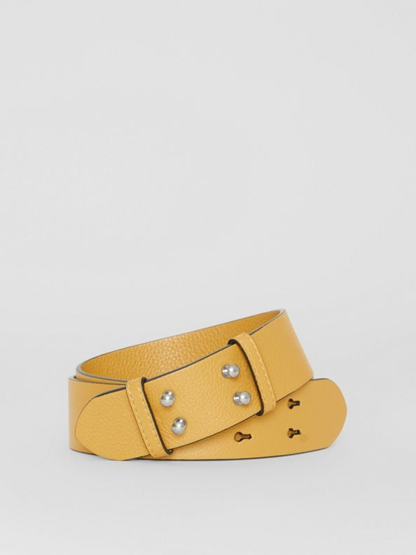 The Small Belt Bag Grainy Leather Belt in Cornflower Yellow