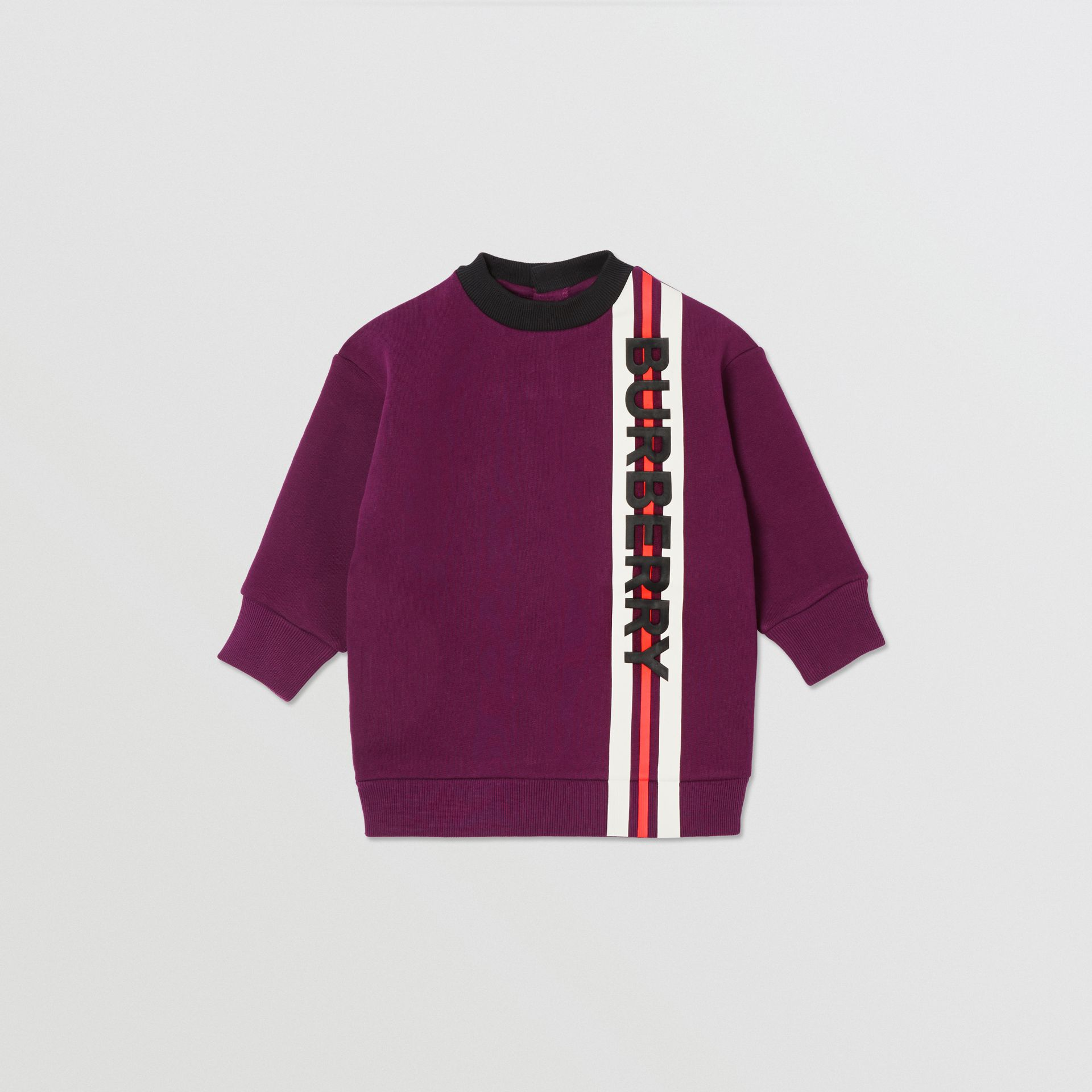 Logo Print Jersey Sweater Dress in Burgundy - Children | Burberry - gallery image 0