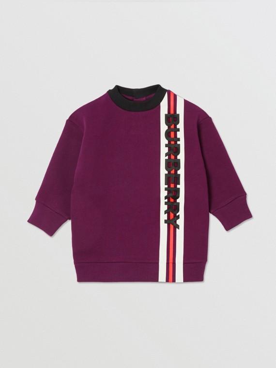 Abito felpa in jersey con logo (Borgogna)
