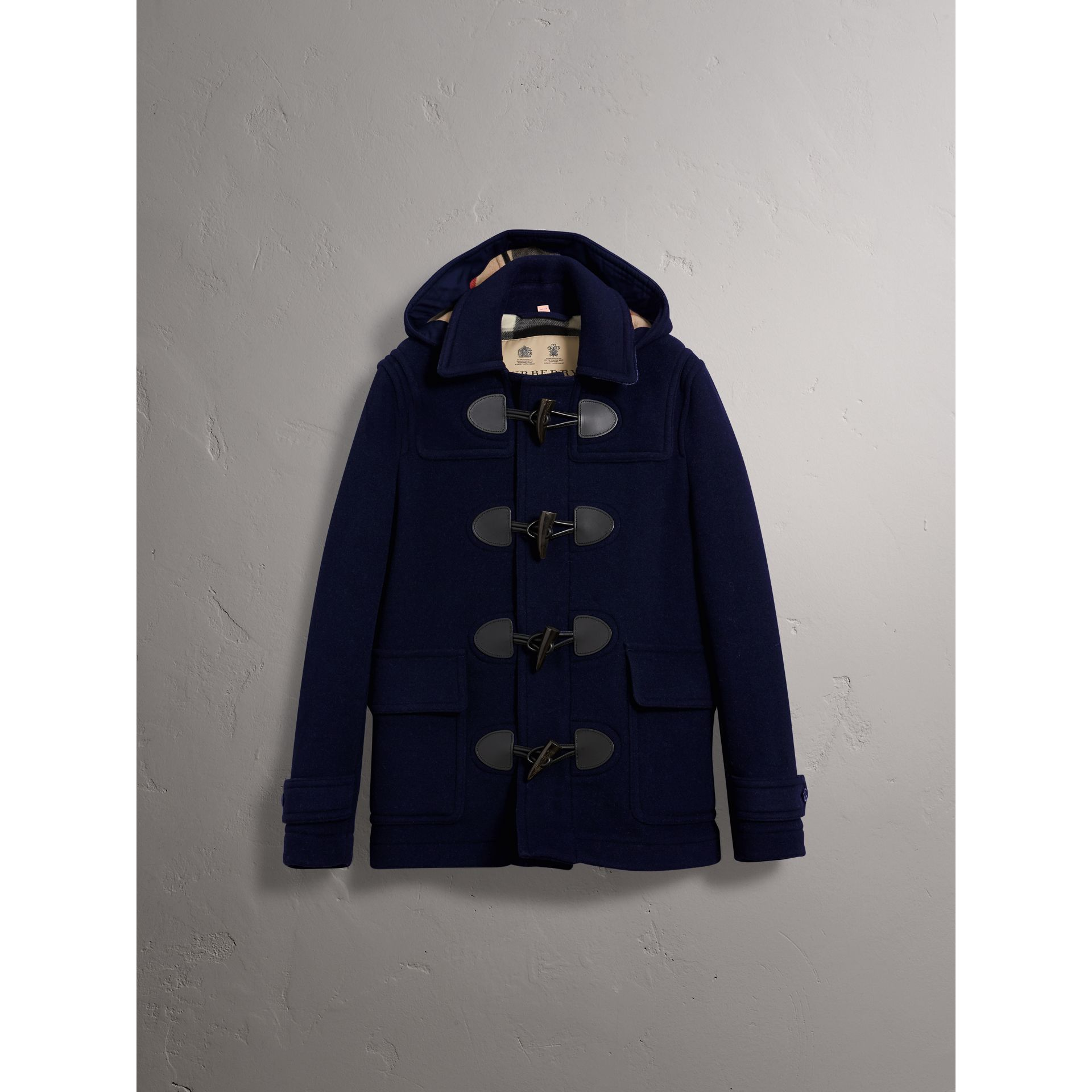 The Plymouth Duffle Coat in Navy - Men | Burberry - gallery image 3