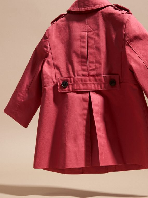 Peony rose Cotton Trench Coat - cell image 3