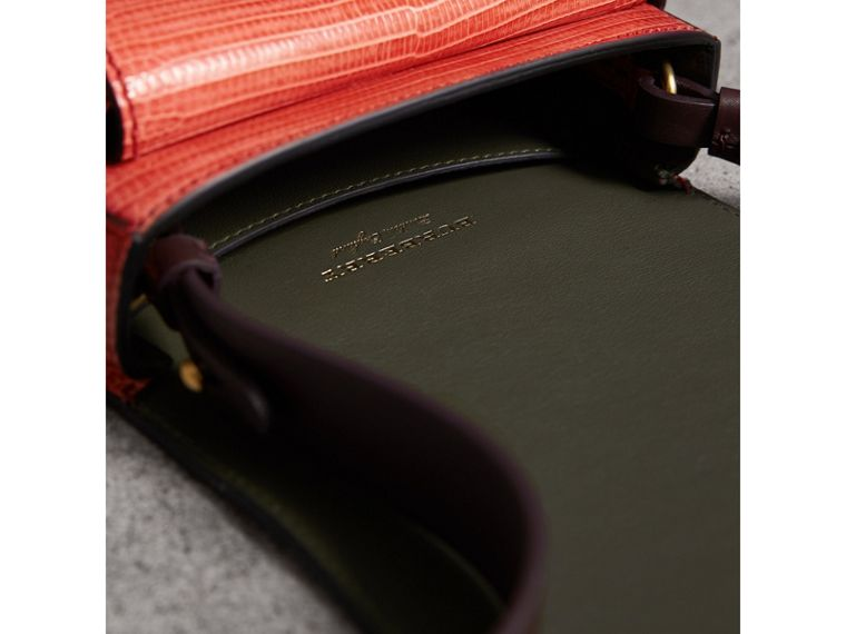 The Satchel in Lizard in Coral Red - Women | Burberry - cell image 4