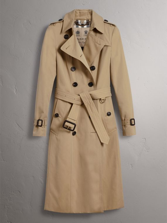 The Chelsea – Extra-long Trench Coat in Honey - Women | Burberry Hong Kong - cell image 3