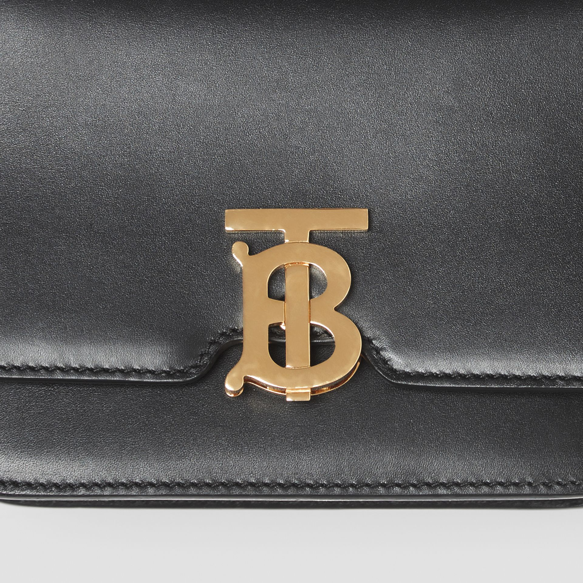 Belted Leather TB Bag in Black - Women | Burberry Hong Kong - gallery image 1