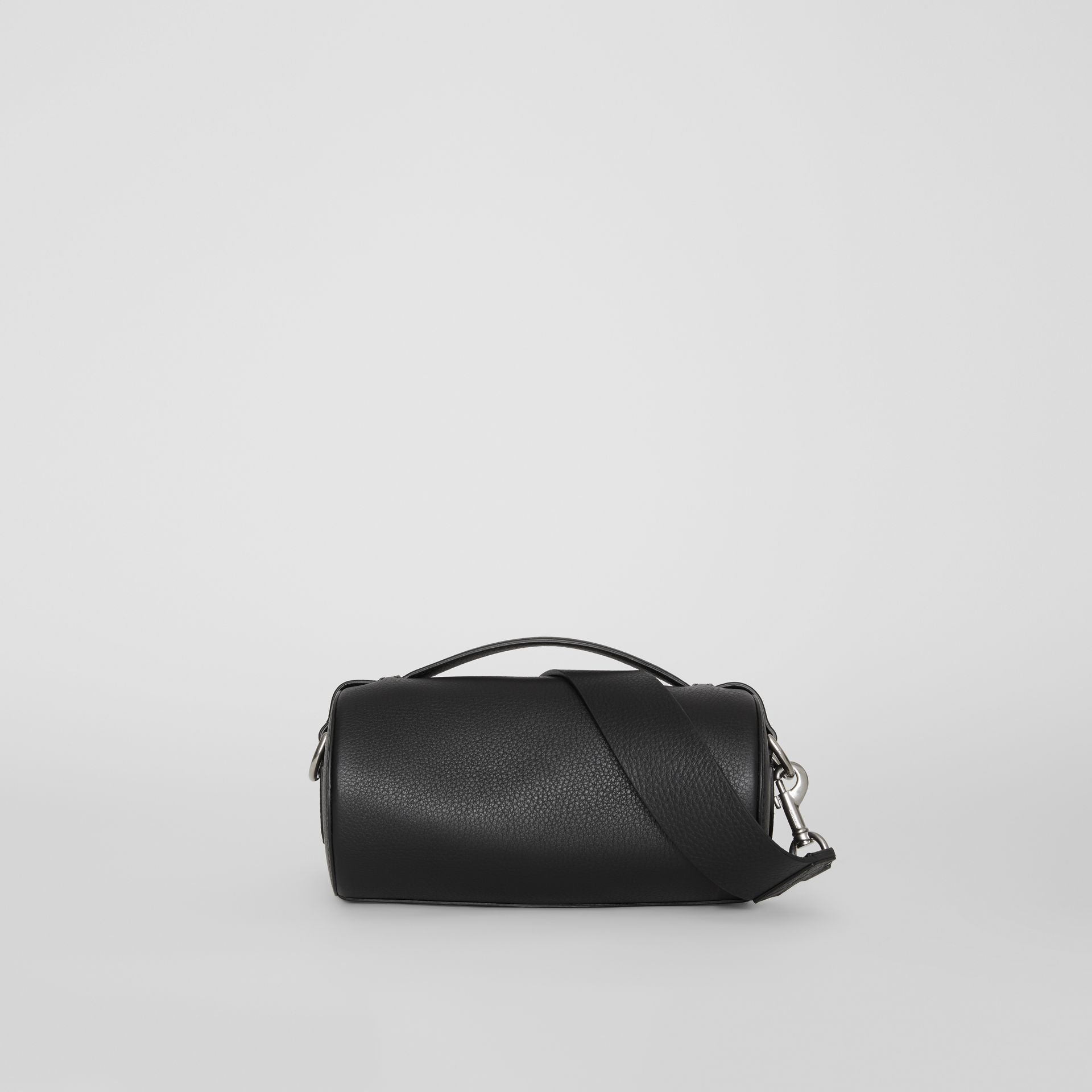 The Leather Barrel Bag in Black - Women | Burberry - gallery image 7