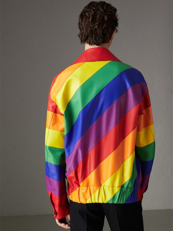 Rainbow Nappa Leather Harrington Jacket | Burberry United Kingdom - cell image 2