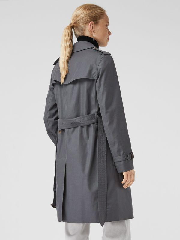 The Kensington Heritage Trench Coat in Mid Grey - Women | Burberry - cell image 2