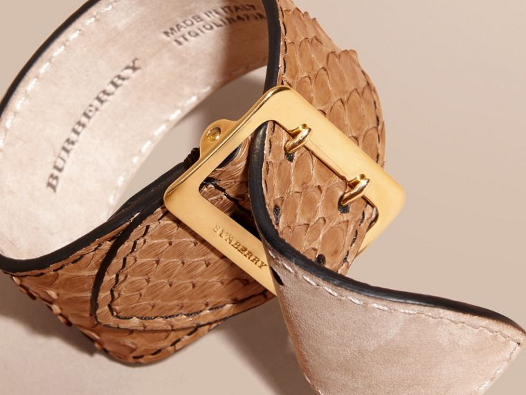 Python Cuff in Camel - Women | Burberry - cell image 1