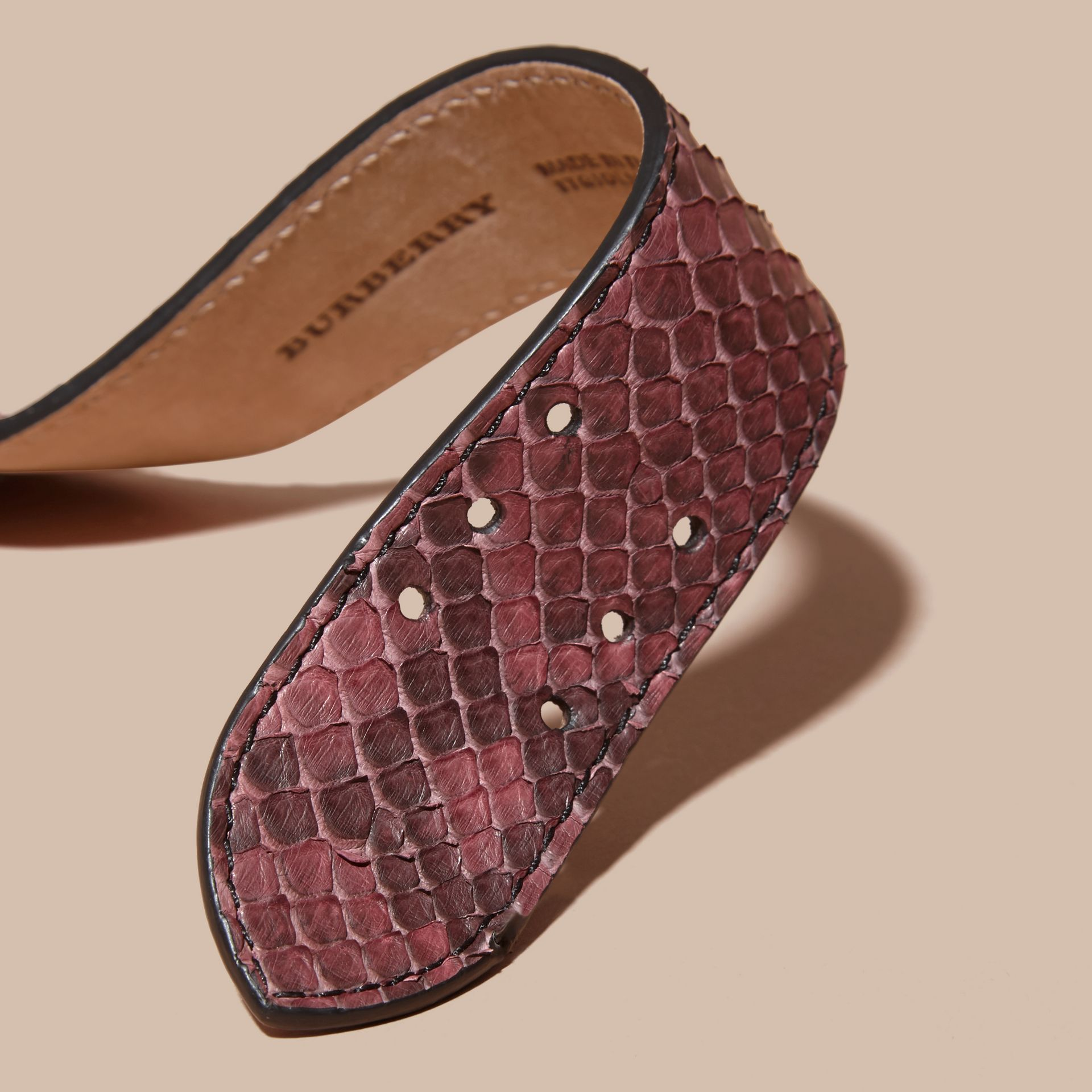 Python Cuff in Elderberry - Women | Burberry - gallery image 2