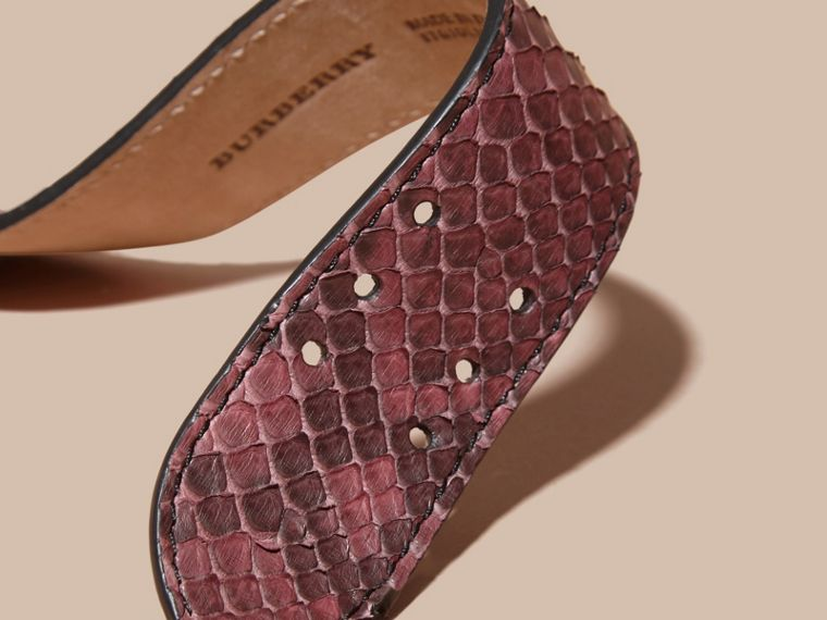Python Cuff in Elderberry - Women | Burberry - cell image 1