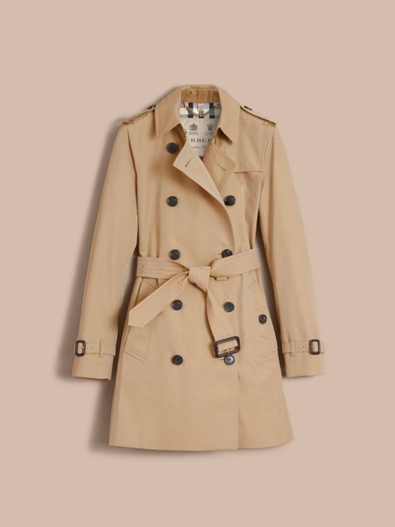 The Kensington – Mid-Length Heritage Trench Coat in Honey - Women | Burberry Singapore - cell image 3