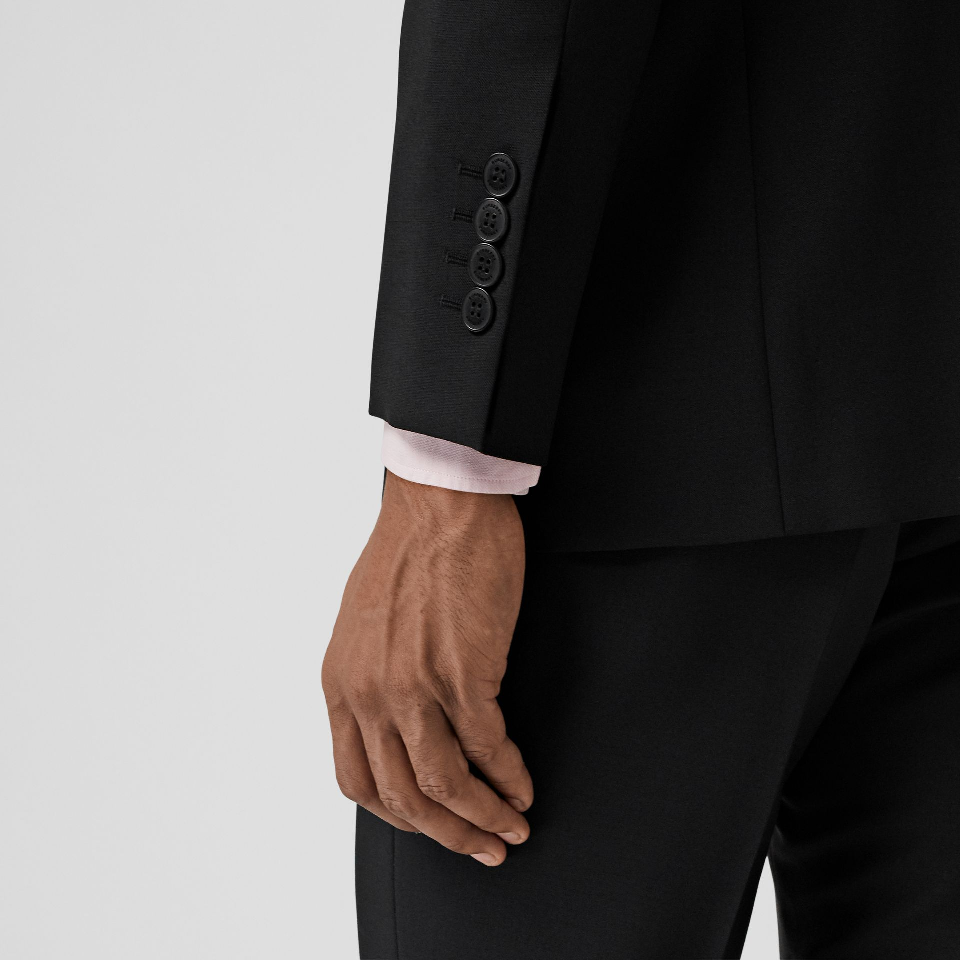 Slim Fit Wool Mohair Suit in Black - Men | Burberry Canada - gallery image 4
