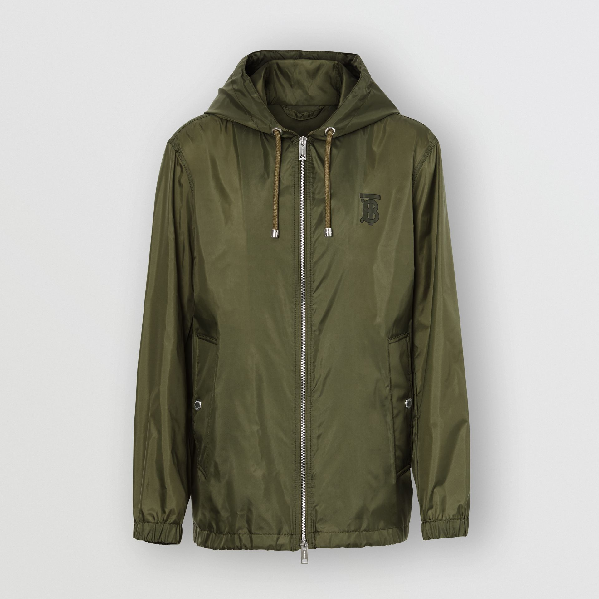 Monogram Motif Lightweight Hooded Jacket in Light Olive - Men | Burberry United Kingdom - gallery image 3