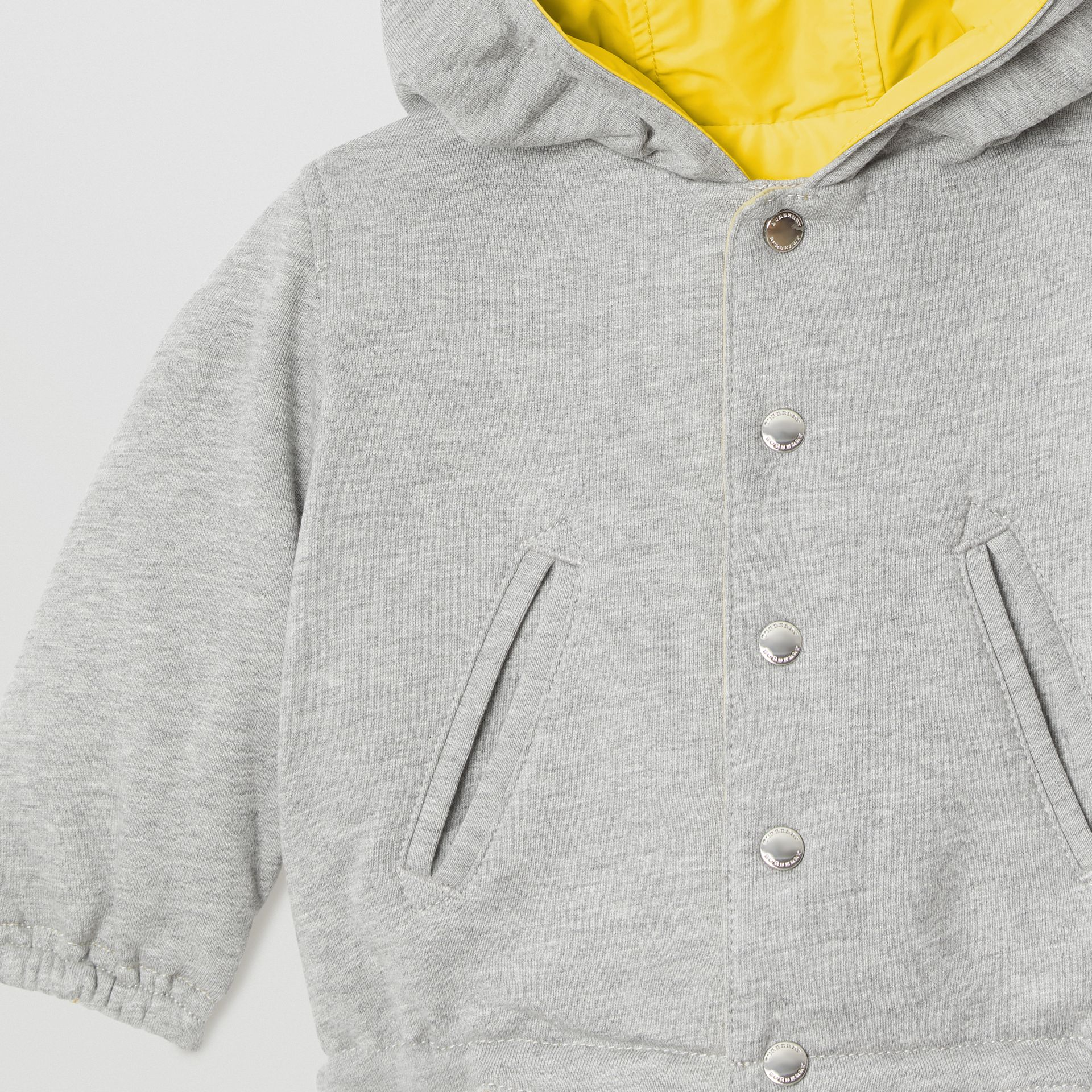 Logo Print Reversible Hooded Jacket in Bright Yellow - Children | Burberry - gallery image 5