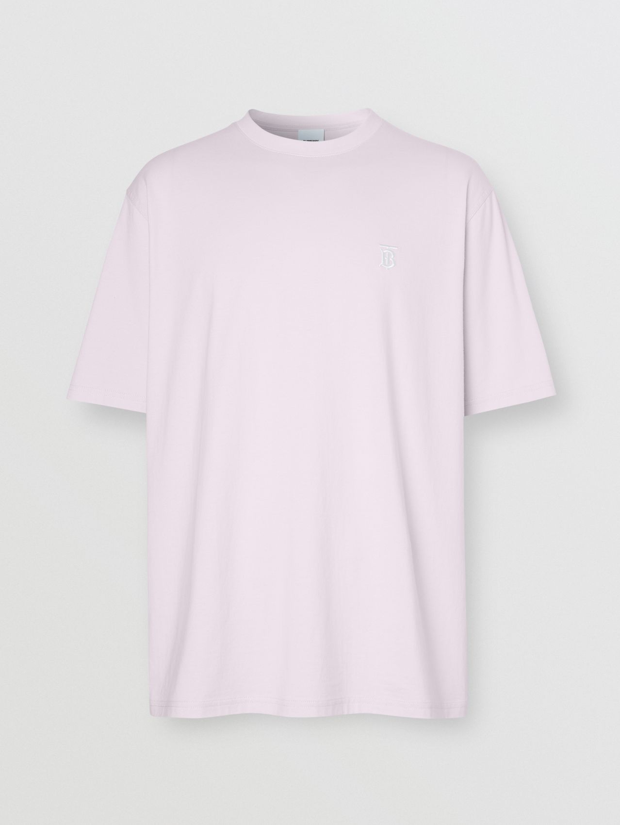Monogram Motif Cotton T-shirt in Pale Thistle