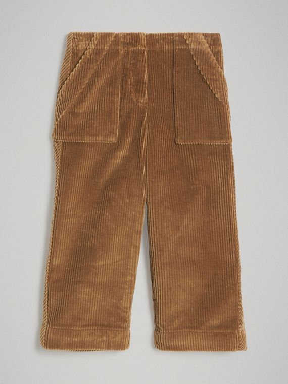 Corduroy Wide-leg Trousers in Toffee
