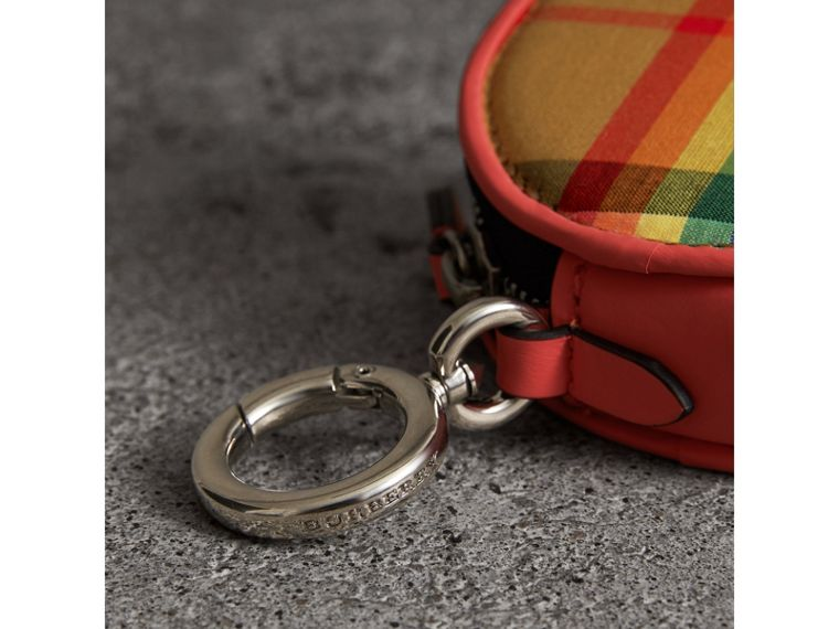 Rainbow Vintage Check Coin Case in Bright Peony | Burberry Australia - cell image 1