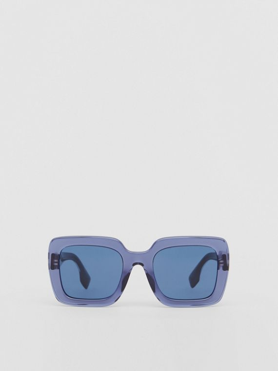 Oversized Square Frame Sunglasses in Blue