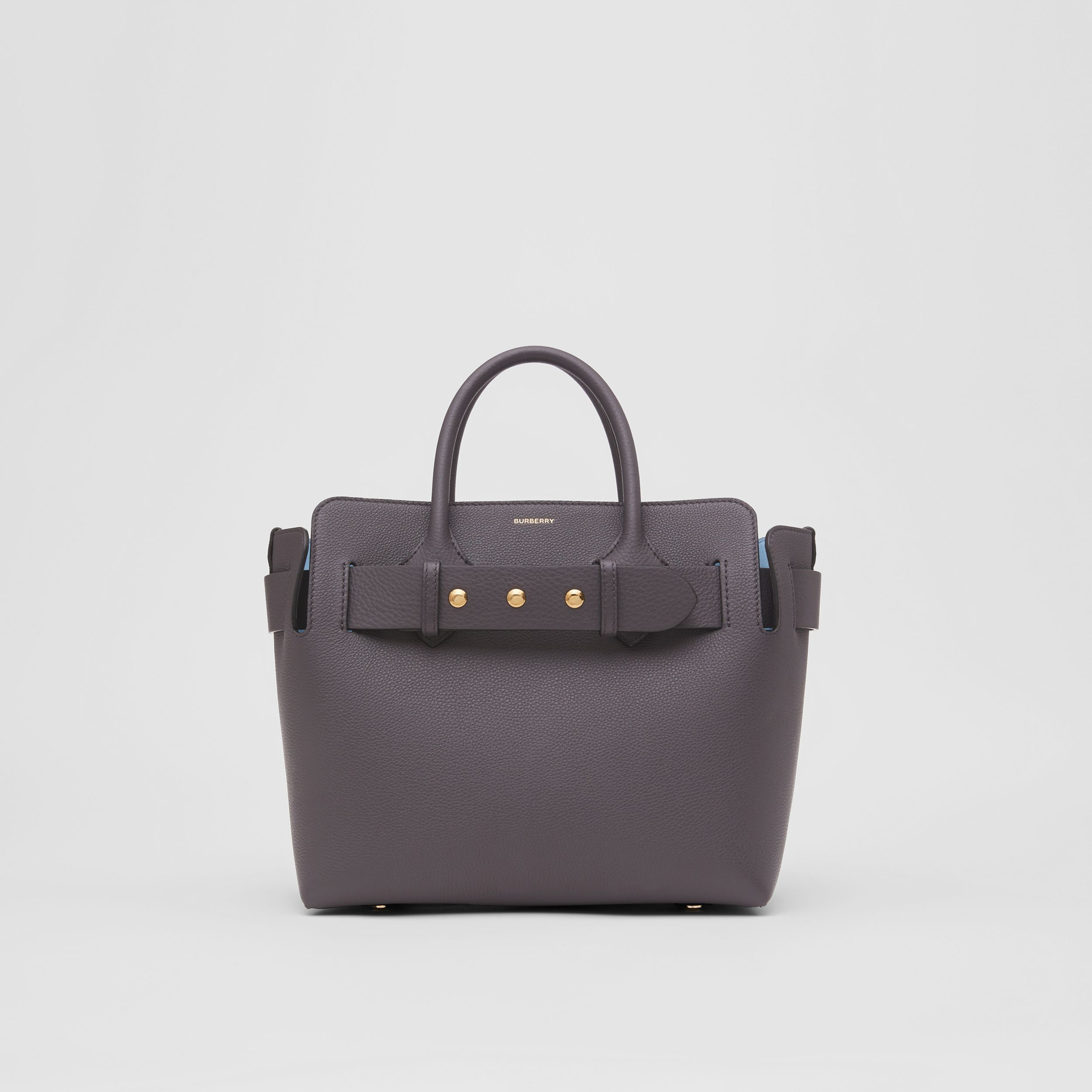 The Small Leather Triple Stud Belt Bag in Charcoal Grey - Women | Burberry - 1