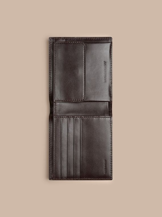 Wine London Leather Folding Coin Wallet Wine - cell image 3