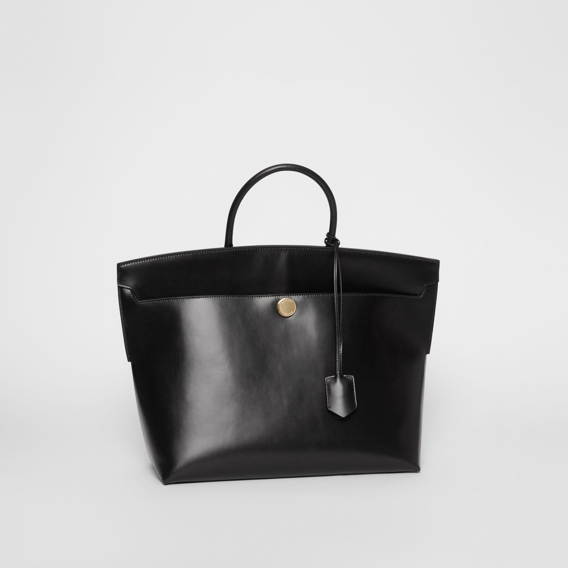 Leather Society Top Handle Bag in Black - Women | Burberry - gallery image 6