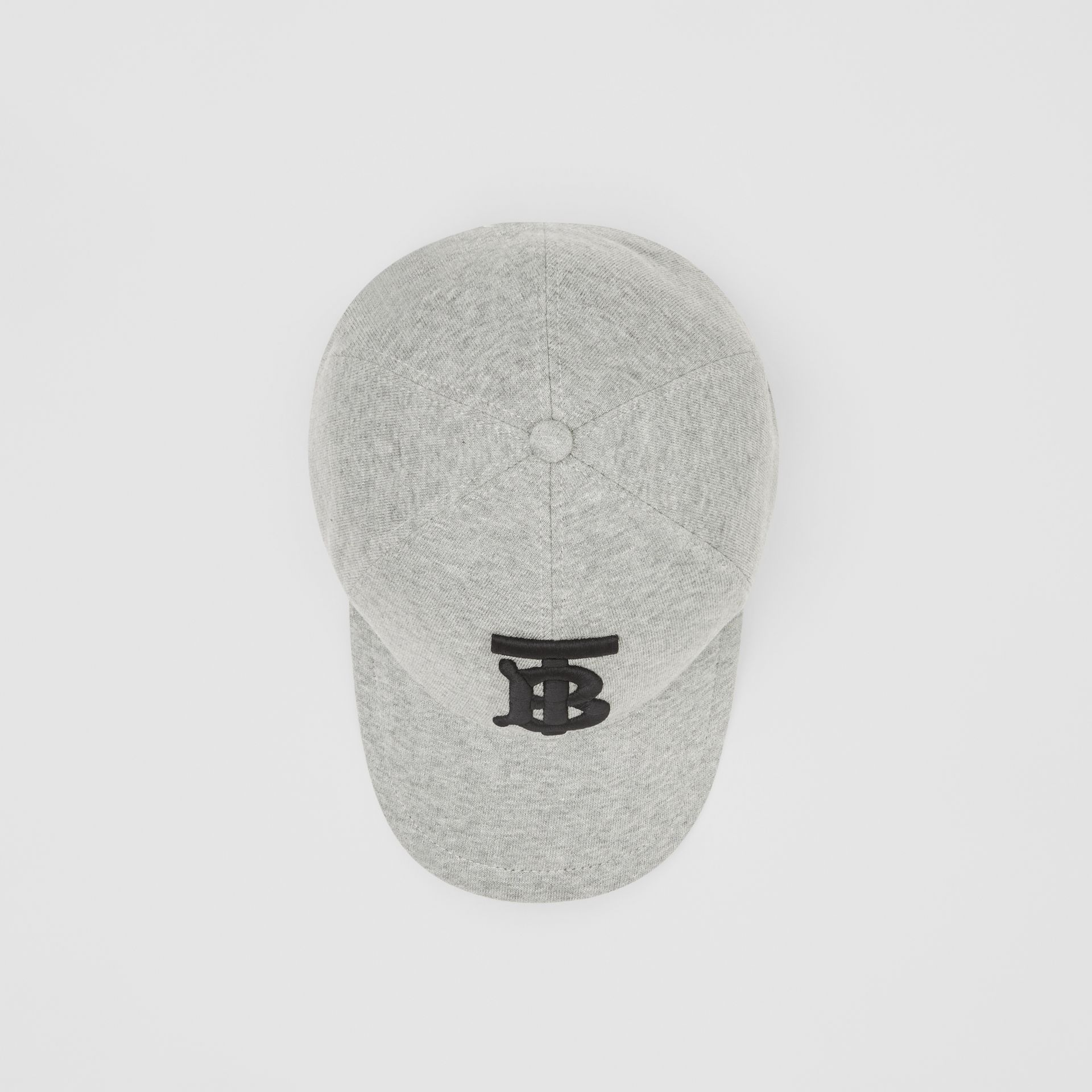 Monogram Motif Baseball Cap in Light Grey Melange | Burberry United Kingdom - gallery image 0