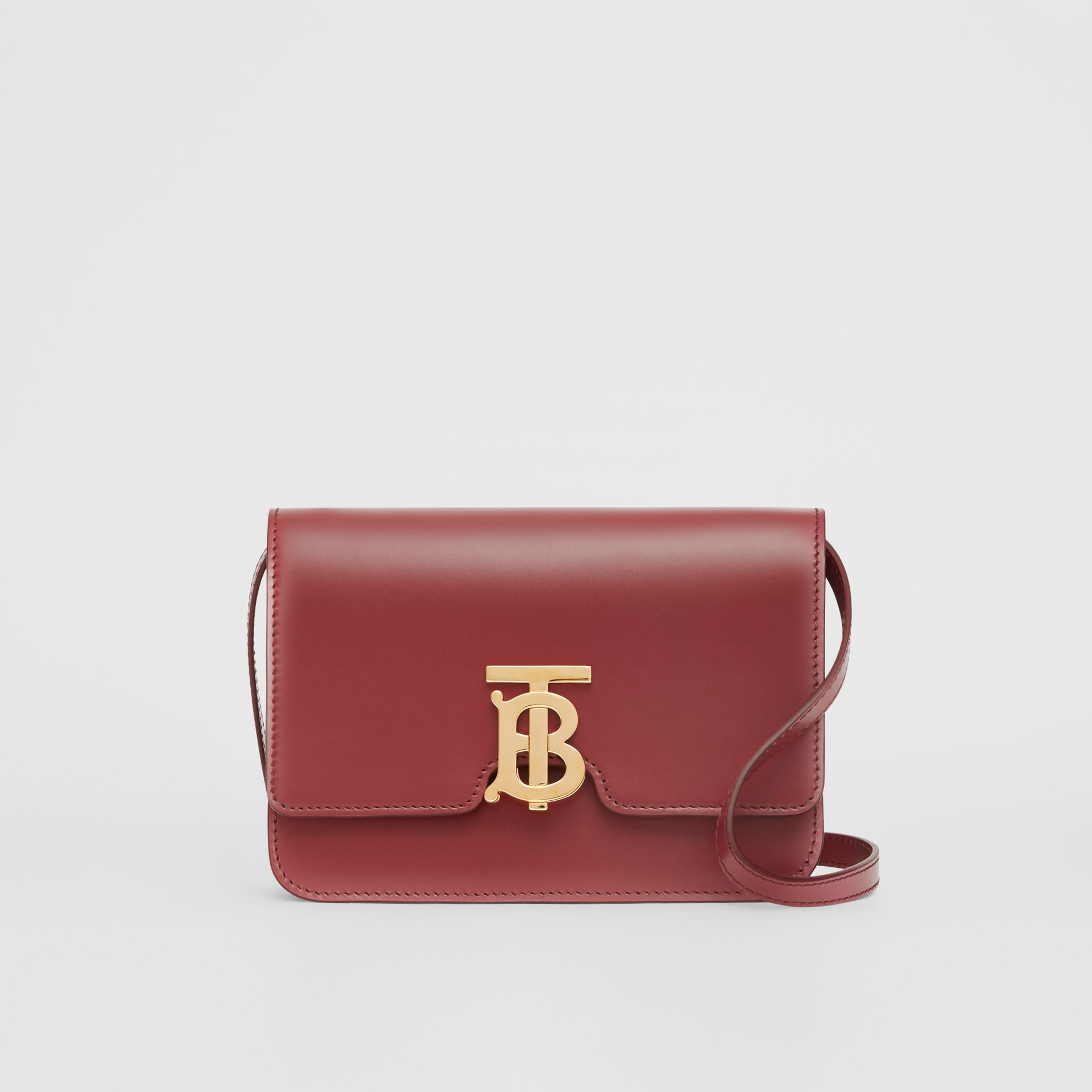 Small Leather TB Bag in Crimson - Women | Burberry - gallery image 0