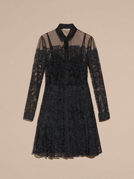 Black Lace Shirt Dress - cell image 3