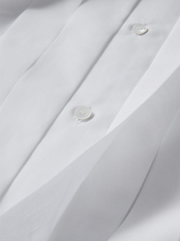 Modern Fit Cotton Poplin Dress Shirt in White - Men | Burberry United Kingdom - cell image 1