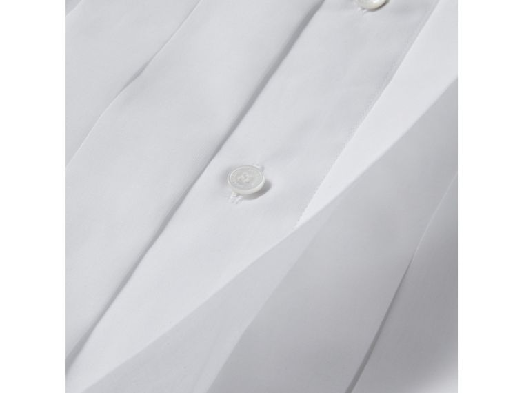 Modern Fit Cotton Poplin Dress Shirt in White - Men | Burberry United Kingdom - cell image 1