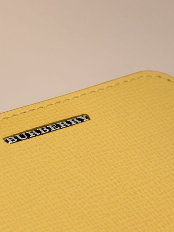 London Leather Ziparound Coin Case in Bright Citrus | Burberry Canada - cell image 3
