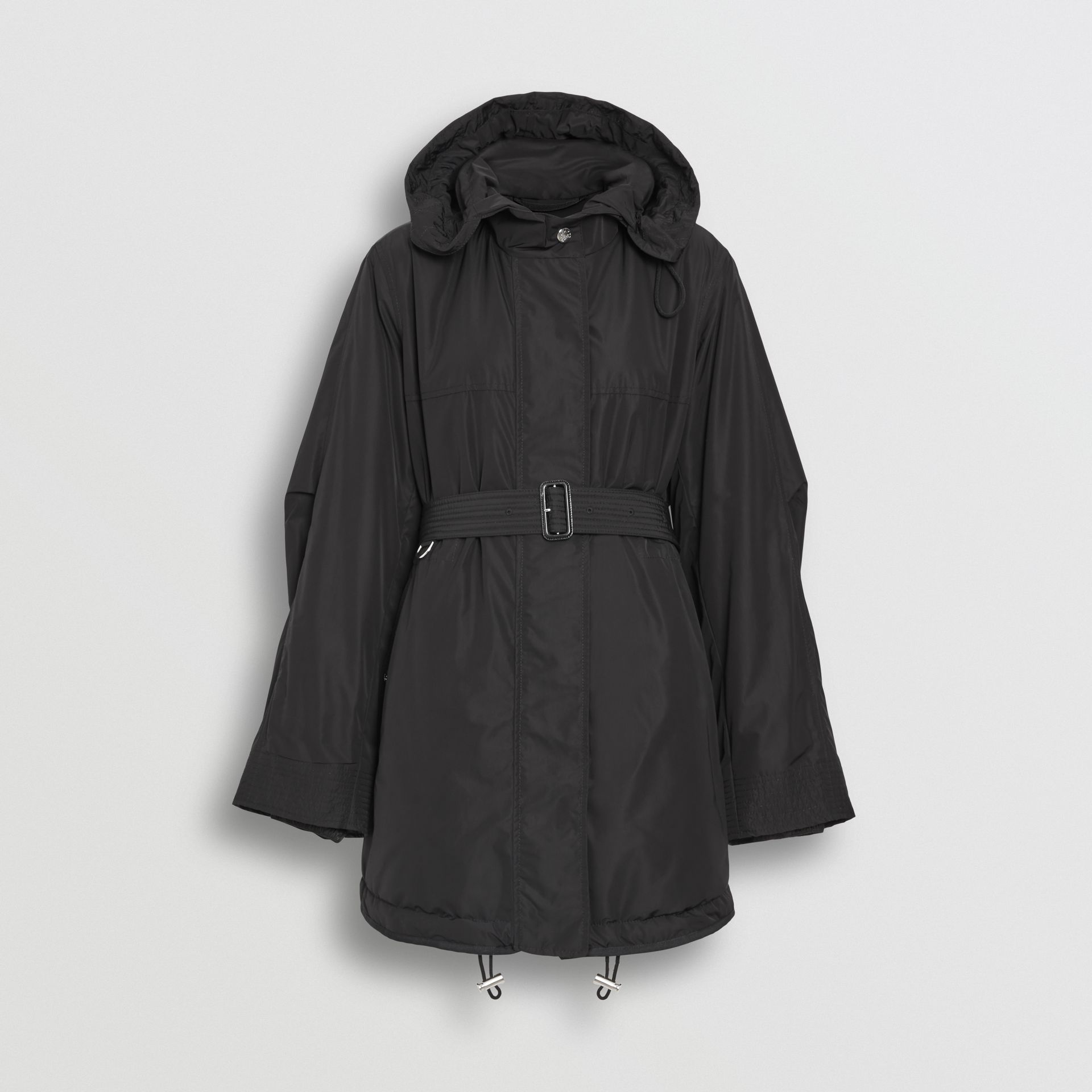 Shape-memory Taffeta Hooded Parka in Black - Women | Burberry Australia - gallery image 2