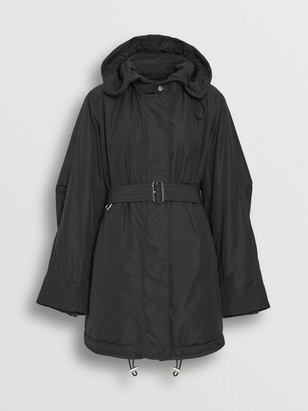 Shape-memory Taffeta Hooded Parka in Black - Women | Burberry Australia - cell image 2