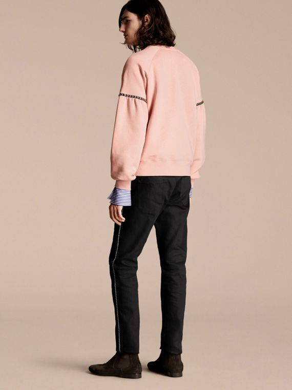 Dusty pink Bell-sleeved Cotton Blend Sweatshirt - cell image 2
