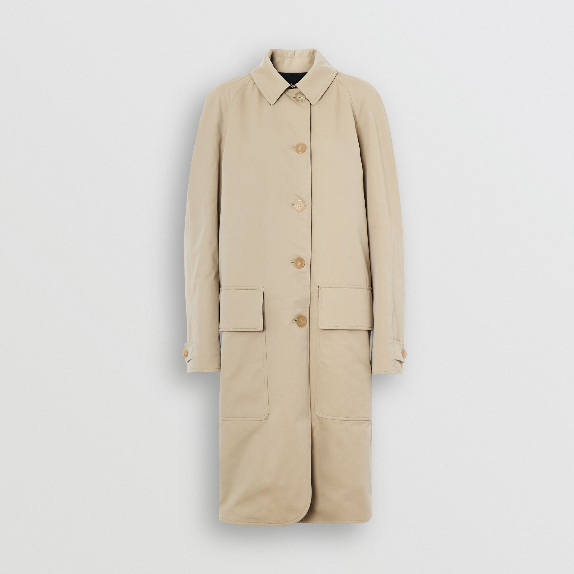 Wool-lined Tropical Gabardine Car Coat in Honey - Women | Burberry - gallery image 3