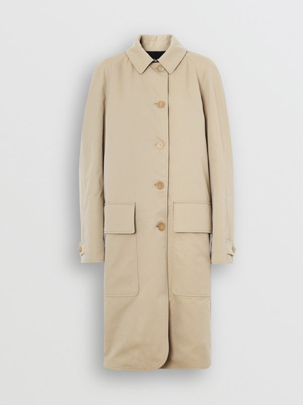 Wool-lined Tropical Gabardine Car Coat in Honey - Women | Burberry - cell image 3