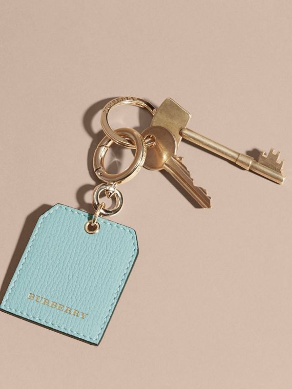 Grainy Leather Key Charm in Pale Opal - Women | Burberry - cell image 2