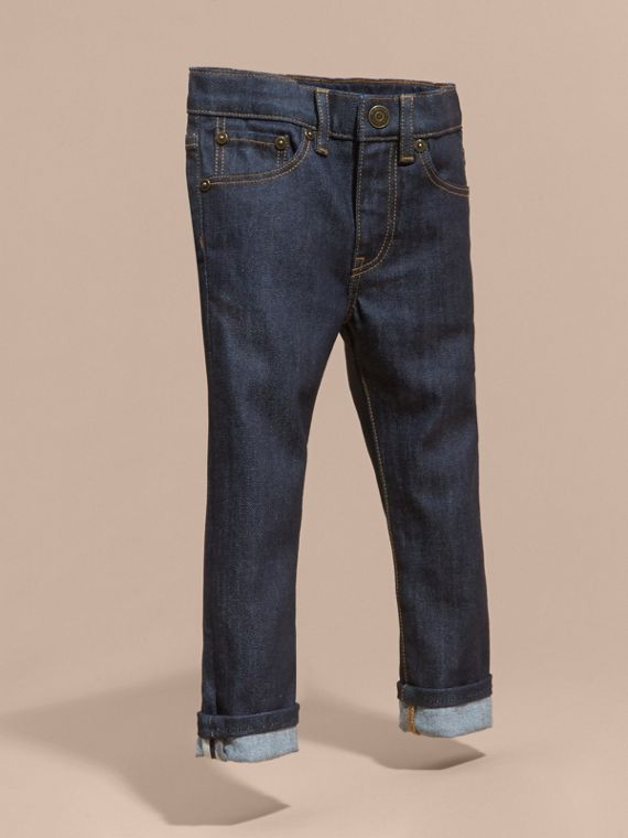 Skinny Fit Indigo Jeans in Dark - Girl | Burberry United Kingdom - cell image 2