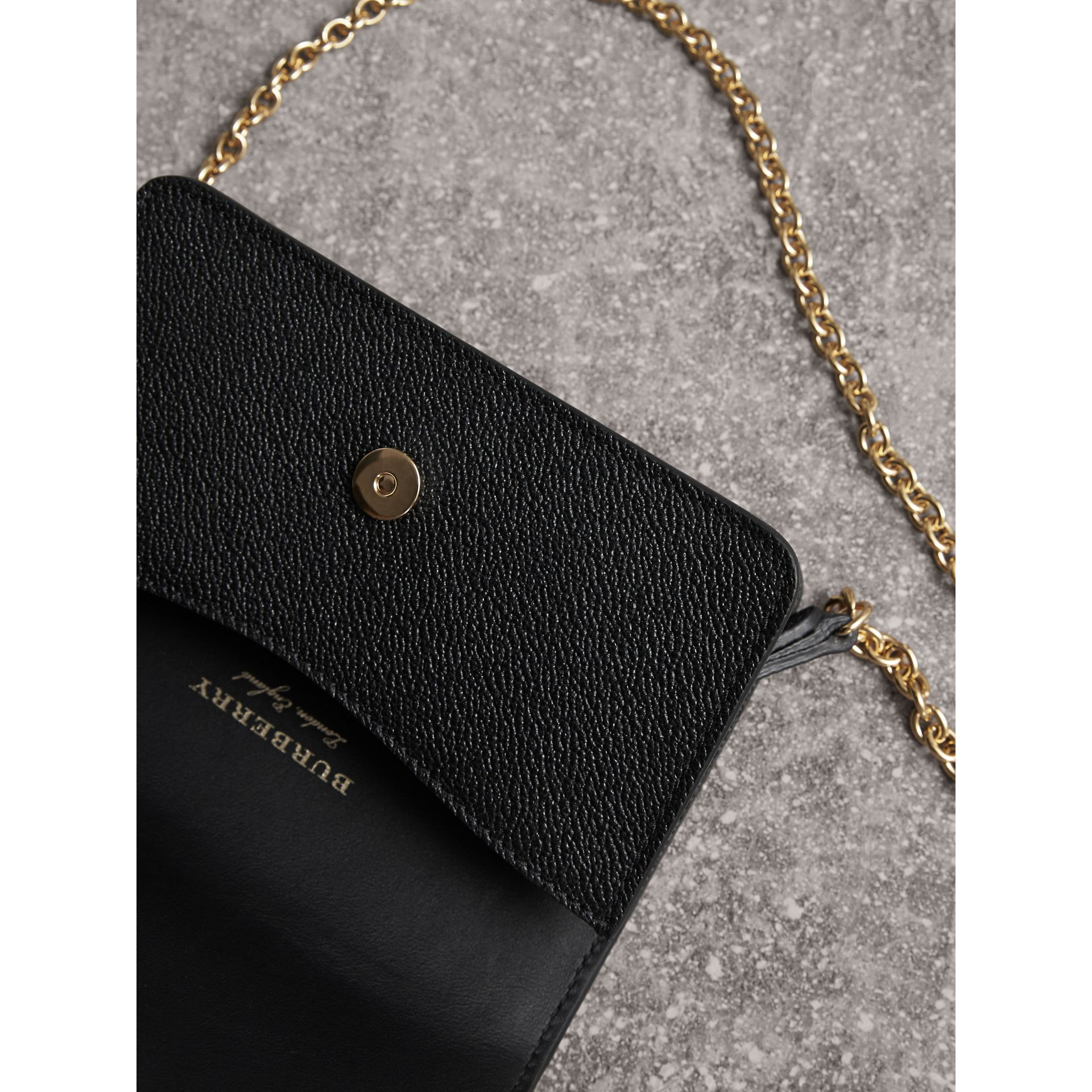 The Mini Buckle Bag in Grainy Leather in Black - gallery image 6