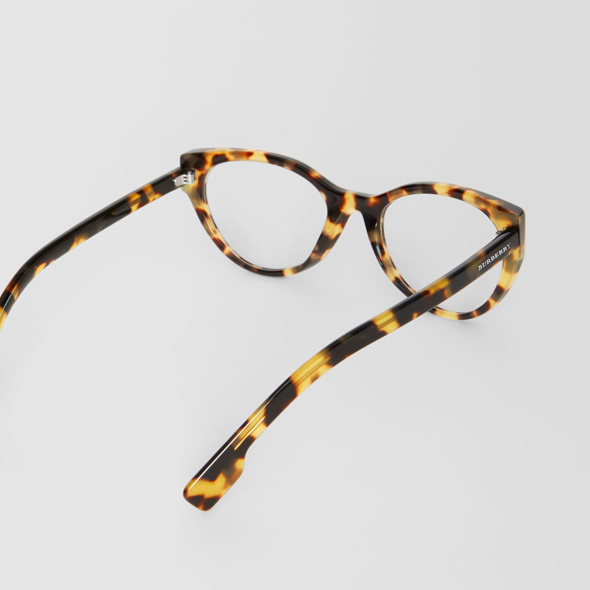 Cat-eye Optical Frames in Tortoise Shell - Women | Burberry - gallery image 4