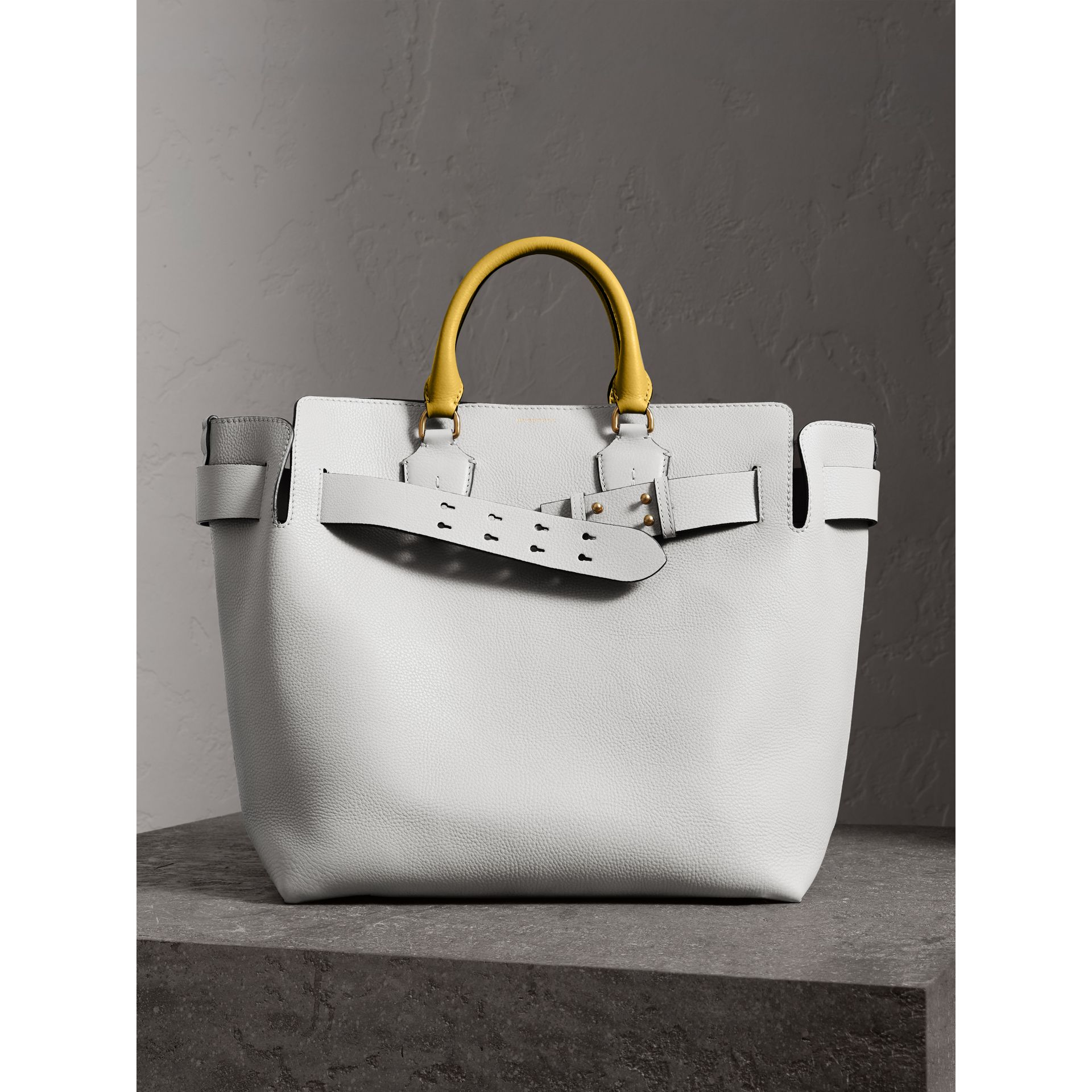 Grand sac The Belt en cuir (Blanc Craie) | Burberry Canada - photo de la galerie 6
