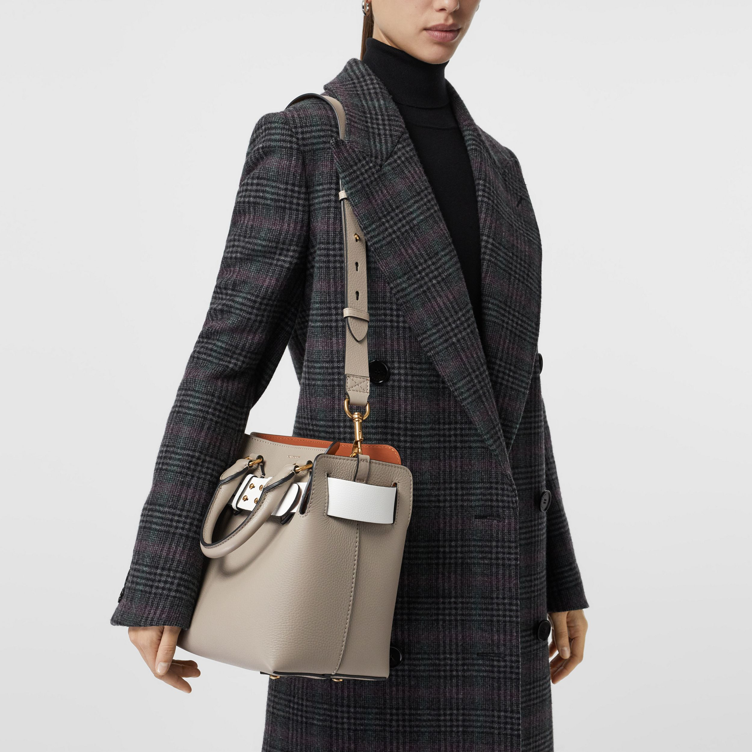 The Small Tri-tone Leather Belt Bag in Mineral Grey - Women | Burberry - 4
