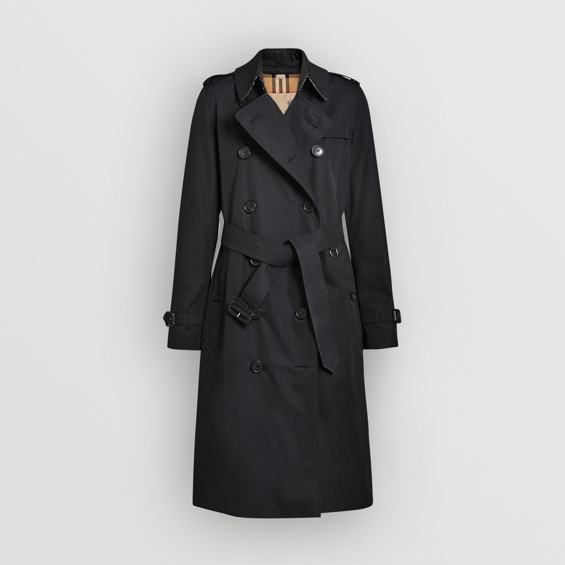 The Long Kensington Heritage Trench Coat in Midnight - Women | Burberry - gallery image 3