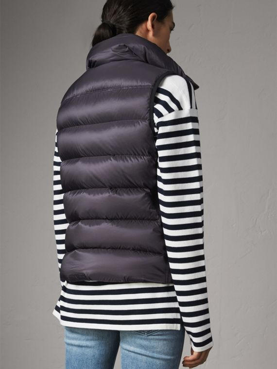 Down-filled Gilet in Blue Black - Women | Burberry - cell image 2