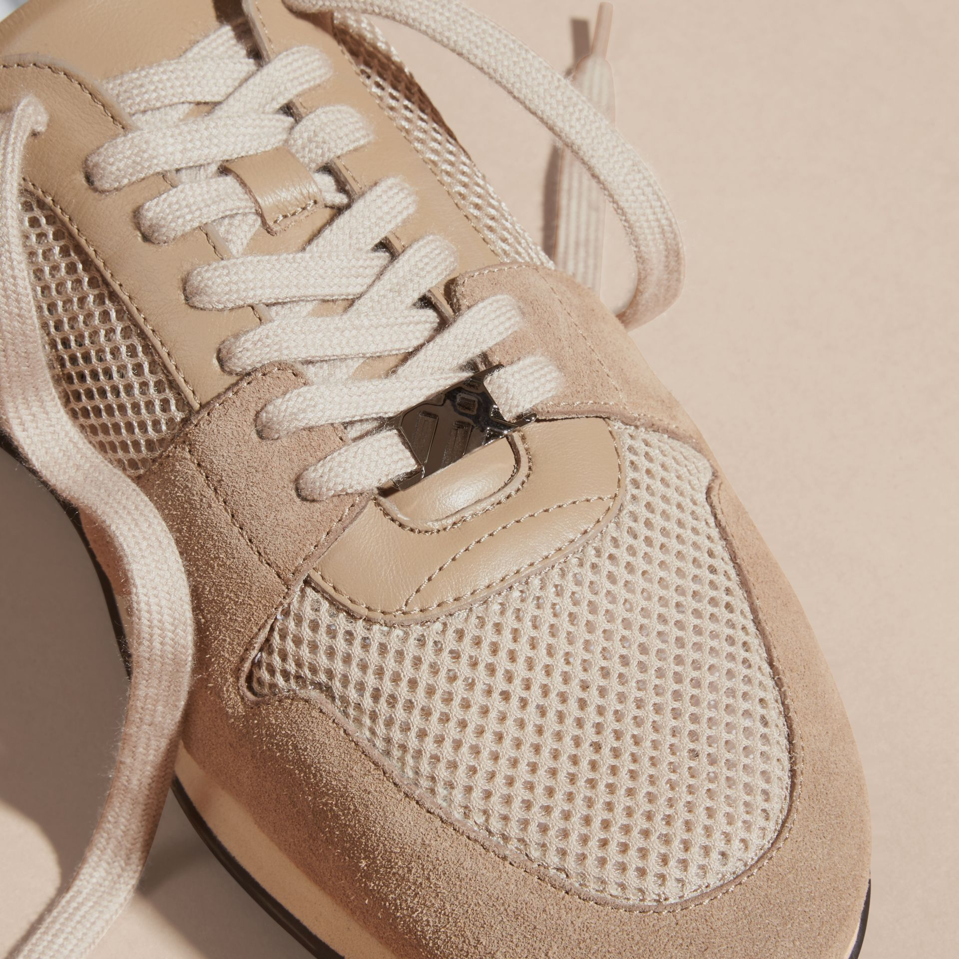 Camel The Field Sneaker in Suede and Mesh Camel - gallery image 6