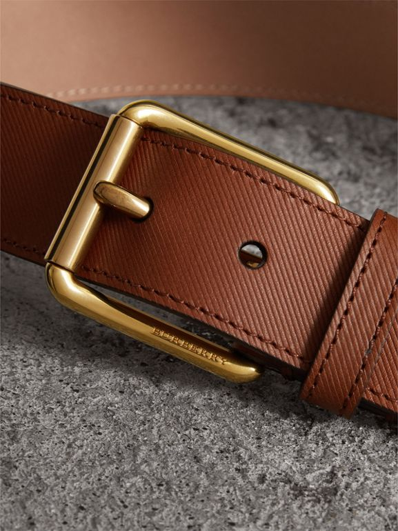 Trench Leather Belt in Tan - Men | Burberry - cell image 1
