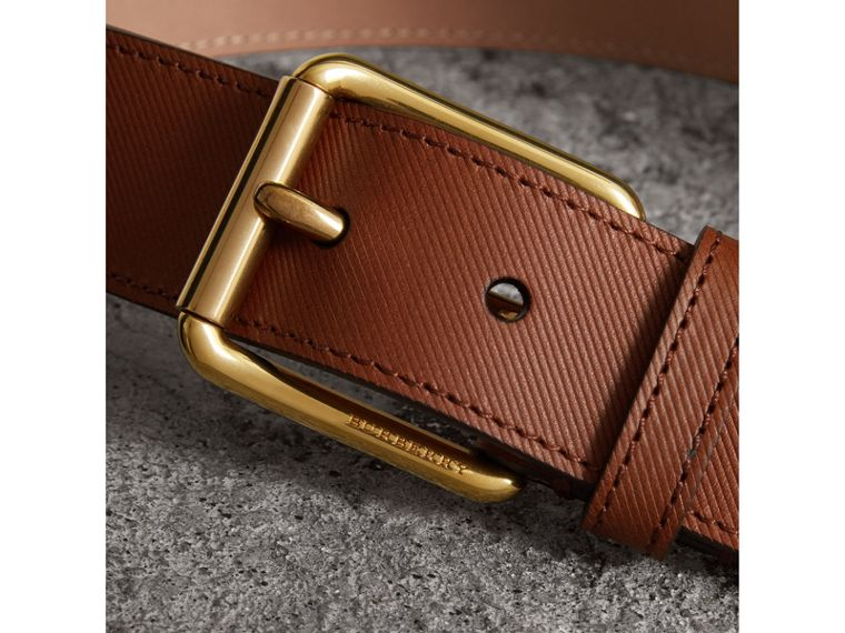 Trench Leather Belt in Tan - Men | Burberry United Kingdom - cell image 1