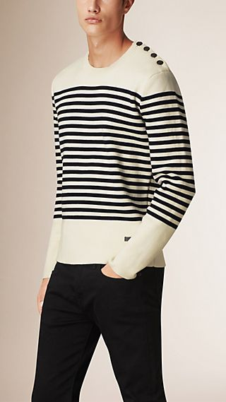 Bretton Stripe Cotton Wool Sweater