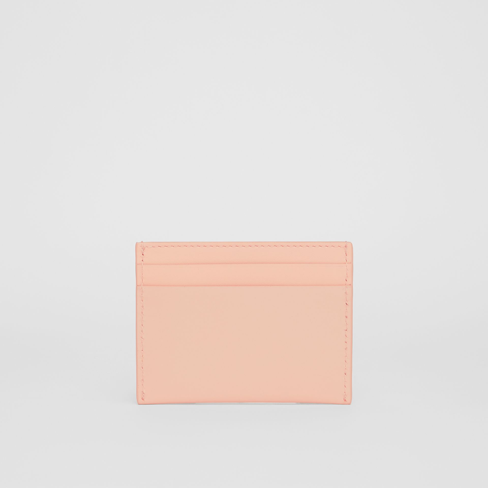 Horseferry Print Leather Card Case in Blush Pink | Burberry - gallery image 4