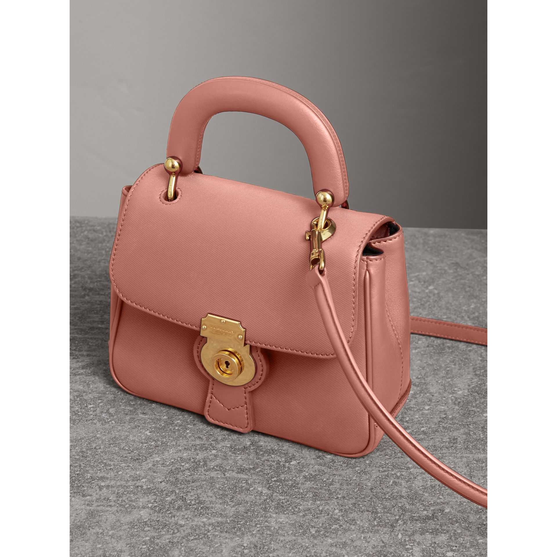 The Small DK88 Top Handle Bag in Ash Rose - Women | Burberry - gallery image 5